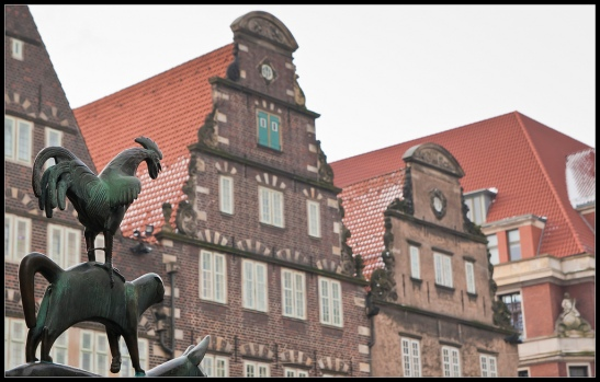 Bremer Stadtmusikanten am Markt (photo: https://www.flickr.com/photos/verborrea)